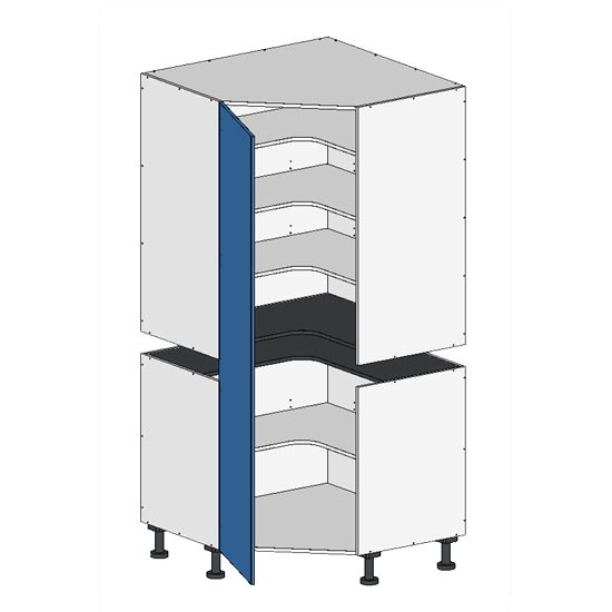 Flatpack 2 Part Corner Pantry w Door