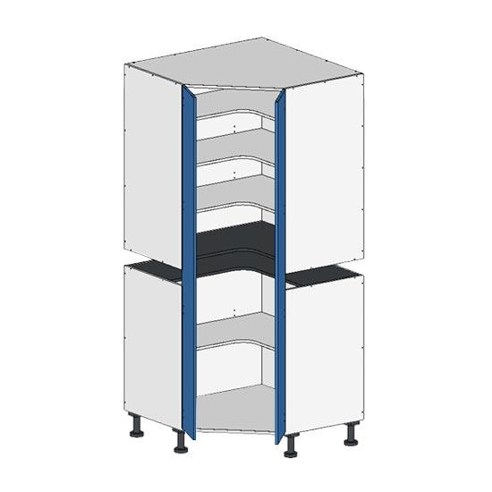 Flatpack 2 Part Corner Pantry w Doors