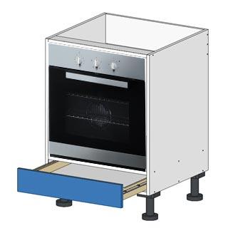 Flatpacl Base Oven Cabinet 600x600 with drawer