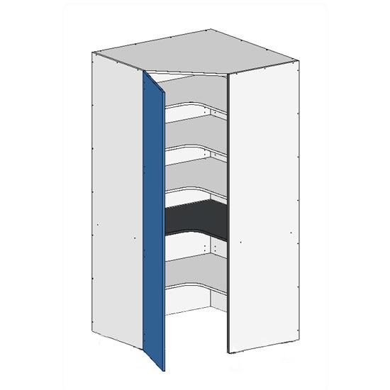 Flatpack Corner Pantry w Door no bottom
