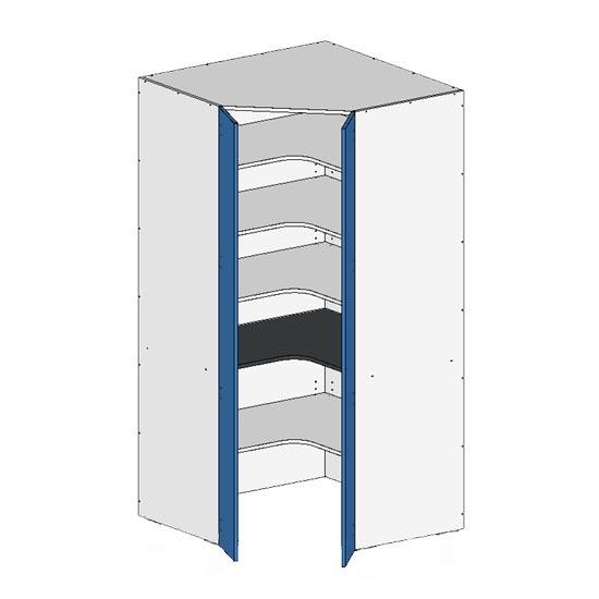 Flatpack Corner Pantry w Doors no bottom