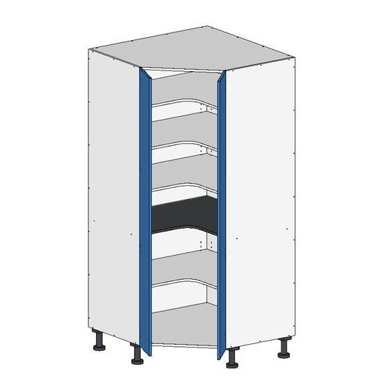 Flatpack Corner Pantry w Doors