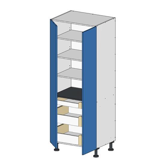 Flatpack Pantry Unit w Doors Budget