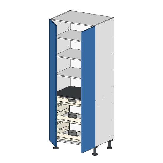 Flatpack Pantry Unit w Doors Premium