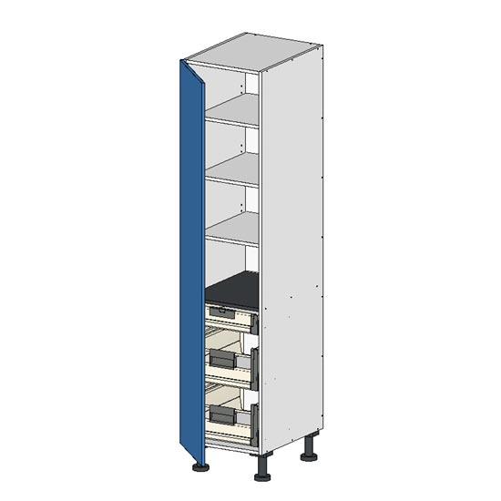 Flatpack Pantry Unit w Left door premium