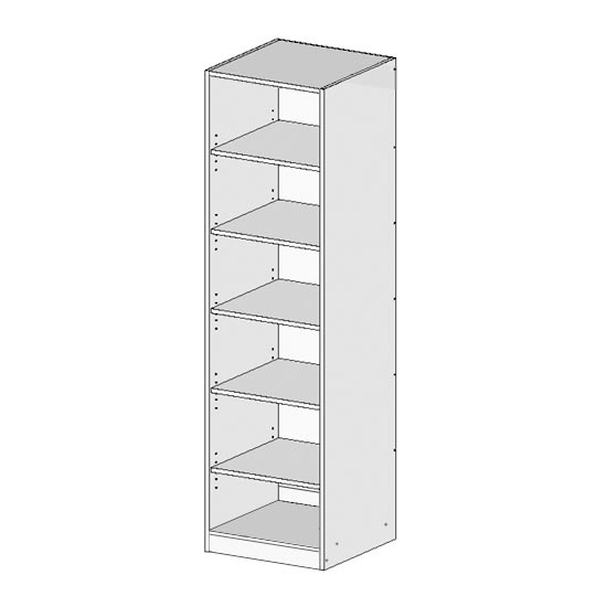 Flatpack Robe Unit w Shelves Top Bottom
