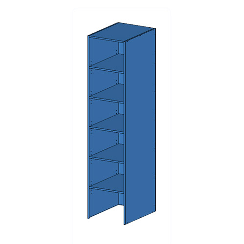 Flatpack Tall Open Unit No Bottom