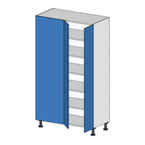 Flat Pack Tall Return Unit w Doors