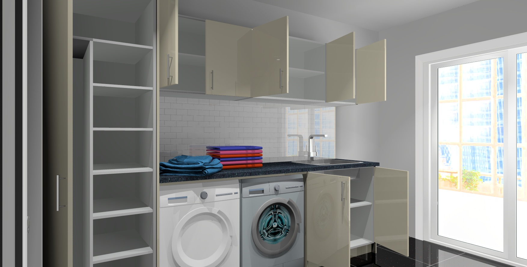 goFlatpacks Laundry cabinets solution