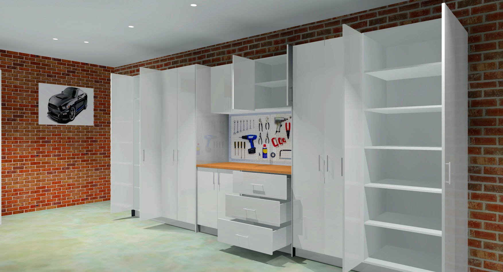 goFlatpacks DIY Shed Storage Render