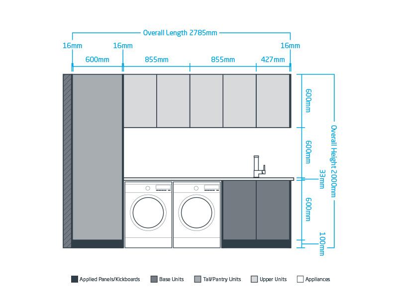 goFlatpacks Laundry Cabinets