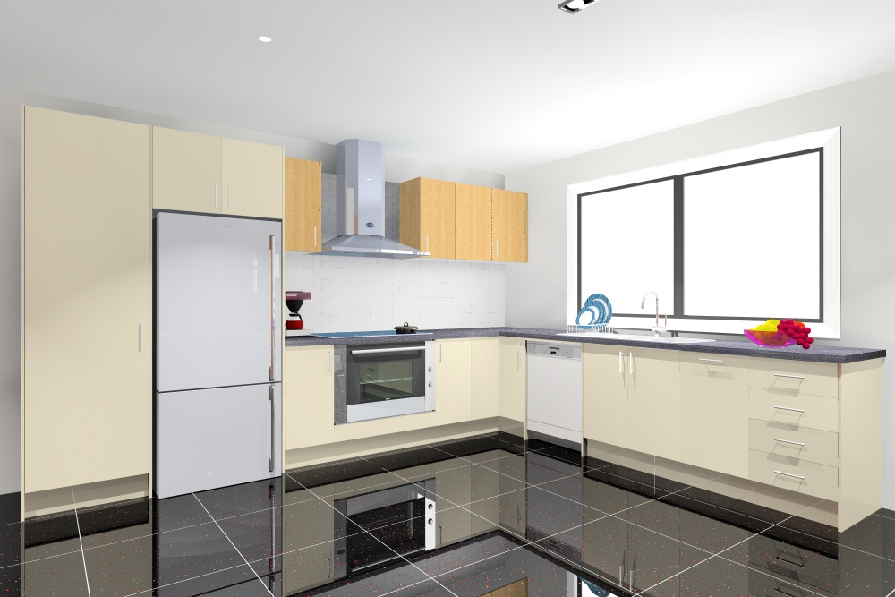 goFlatpacks L-Shape Kitchen render